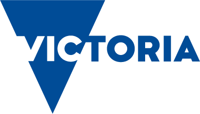 The Department of Health and Human Services Victoria logo is displayed in blue.